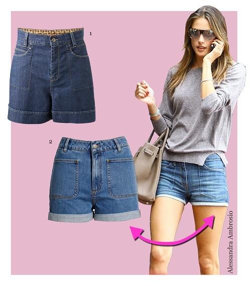 Alessandra Ambrosio in trendigen Shorts