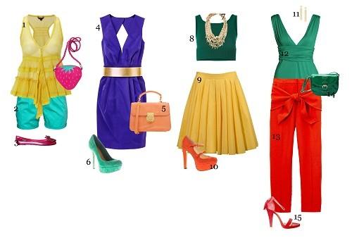 Outfits im perfekten Farb-Mix