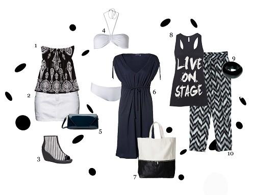 Schwarz-Weiß-Outfits