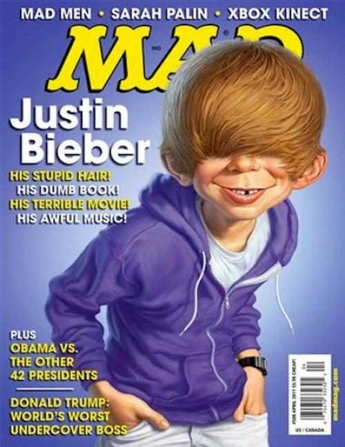 Así es la imagen de Justin Bieber para la revista MAD